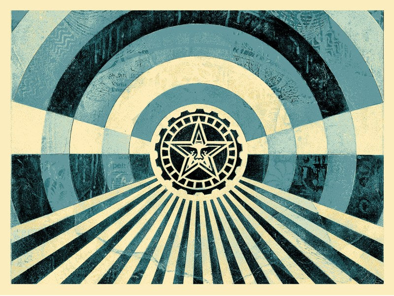 "Shepard Fairey ""Tunnel Vision"" 2nd Edition (Blue)"