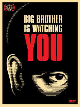 "Shepard Fairey ""Big Brother Is Watching You"""