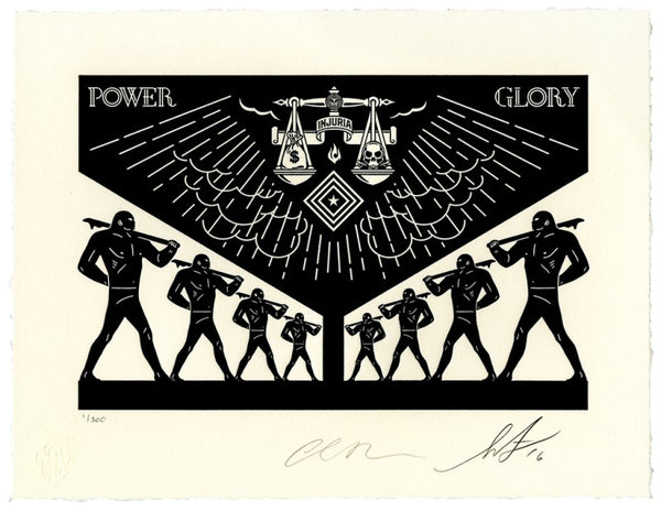 Shepard Fairey Scales Of Injustice Letterpress