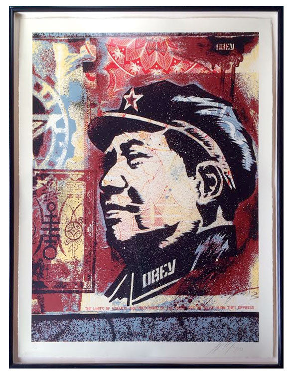 Shepard Fairey Mao Collage Print