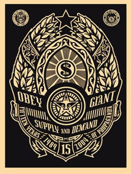"Shepard Fairey ""Supply and Demand"" (Black)"