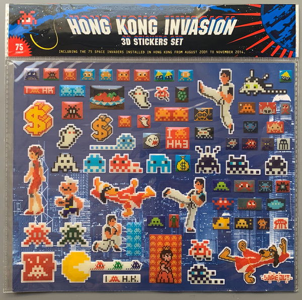 "Space Invader ""Hong Kong Invasion"" Sticker Set"