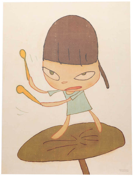 "Yoshitomo Nara ""Marching On a Butterbur Leaf"""