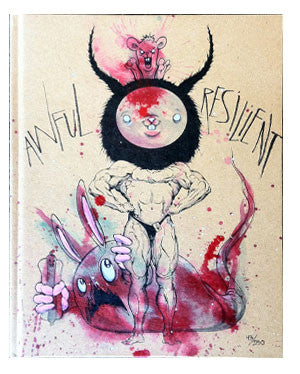 Alex Pardee Awful/Resilient Hand Painted Book