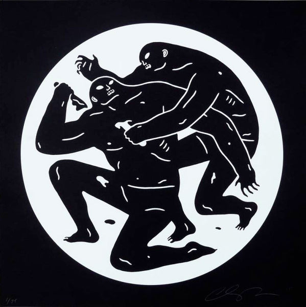 "Cleon Peterson ""Destroying The Weak 1"" White"