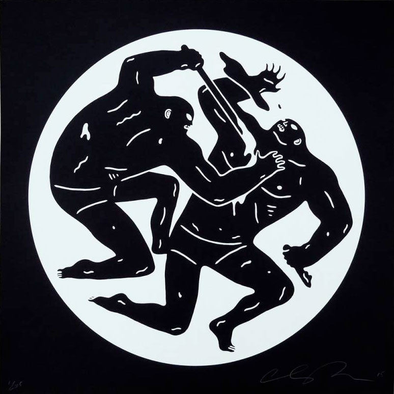 "Cleon Peterson ""Destroying The Weak 2"" White"