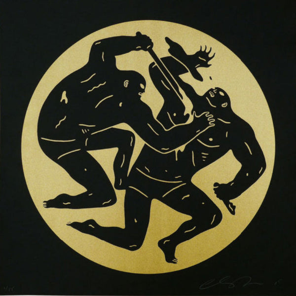 "Cleon Peterson ""Destroying The Weak 2"" Gold"