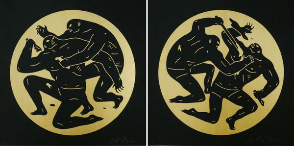 "Cleon Peterson ""Destroying The Weak 1 and 2"" Gold"