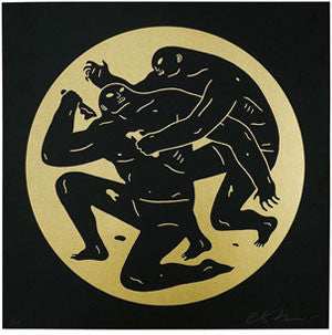 "Cleon Peterson ""Destroying The Weak 1"" Gold"