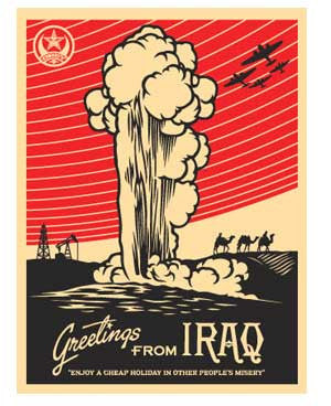 Shepard Fairey Greetings From Iraq