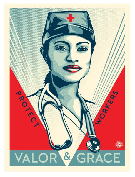 "Shepard Fairey ""Valor & Grace Nurse"""