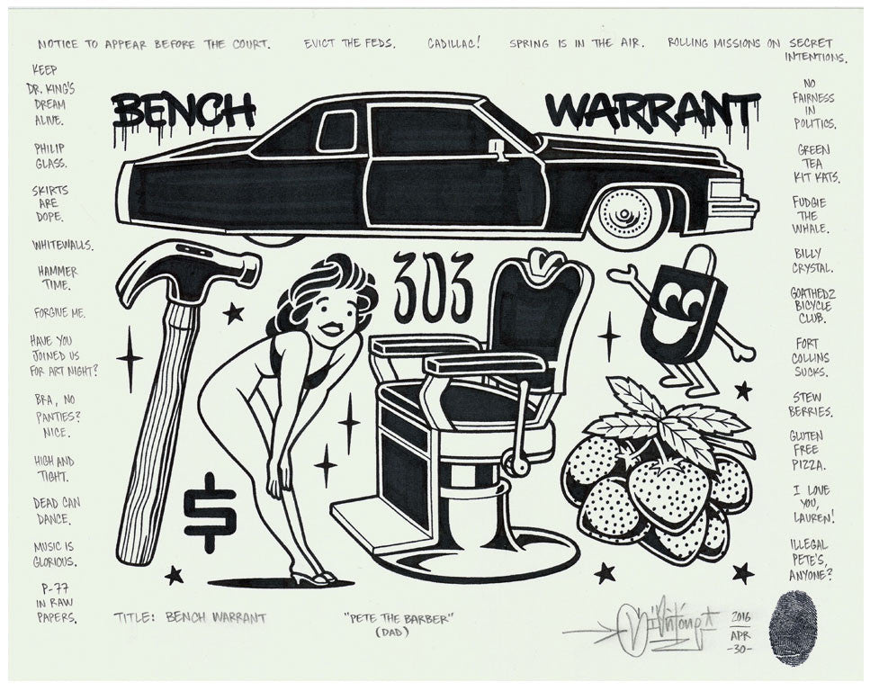"Mike Giant - ""Bench Warrant"" Drawing"