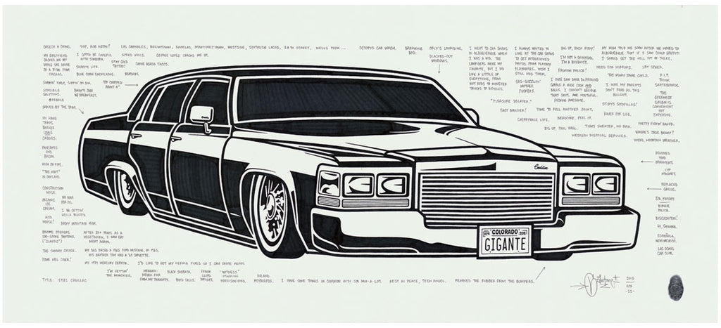 "Mike Giant ""1981 Cadillac"" Original Drawing"
