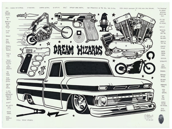 "Mike Giant - ""Dream Wizards"" Drawing"