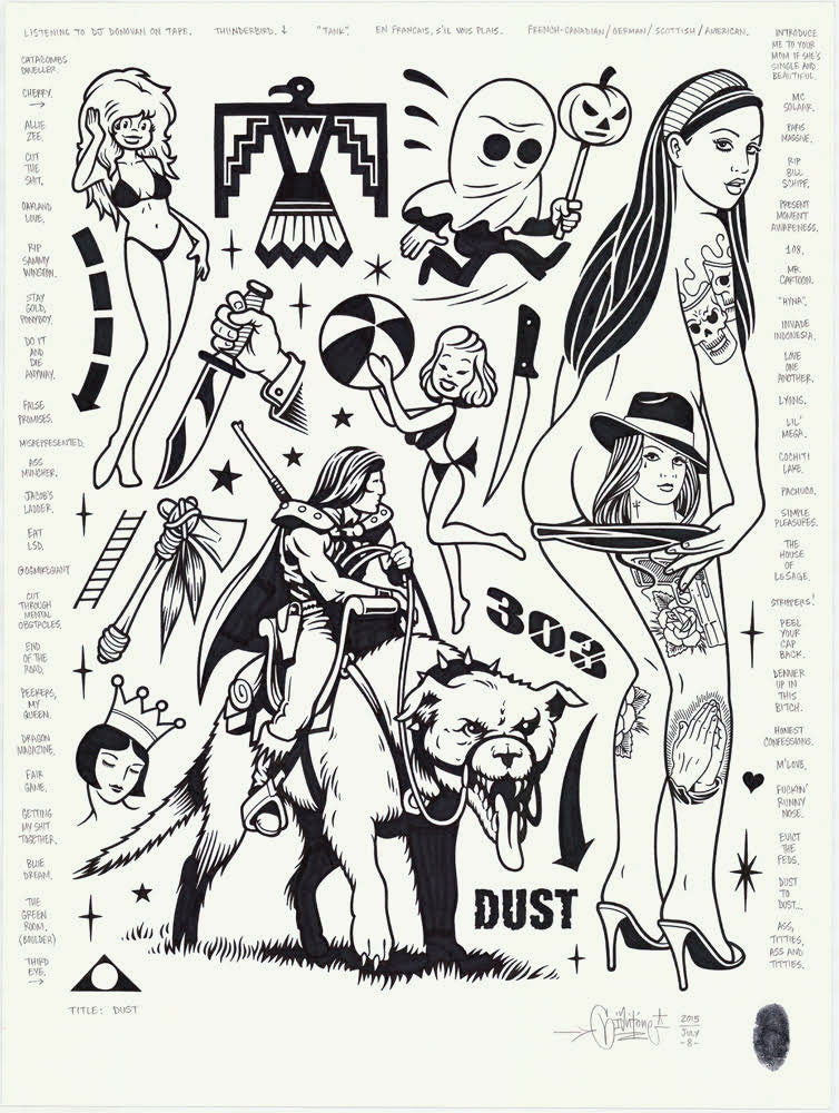 "Mike Giant - ""Dust"" Drawing"