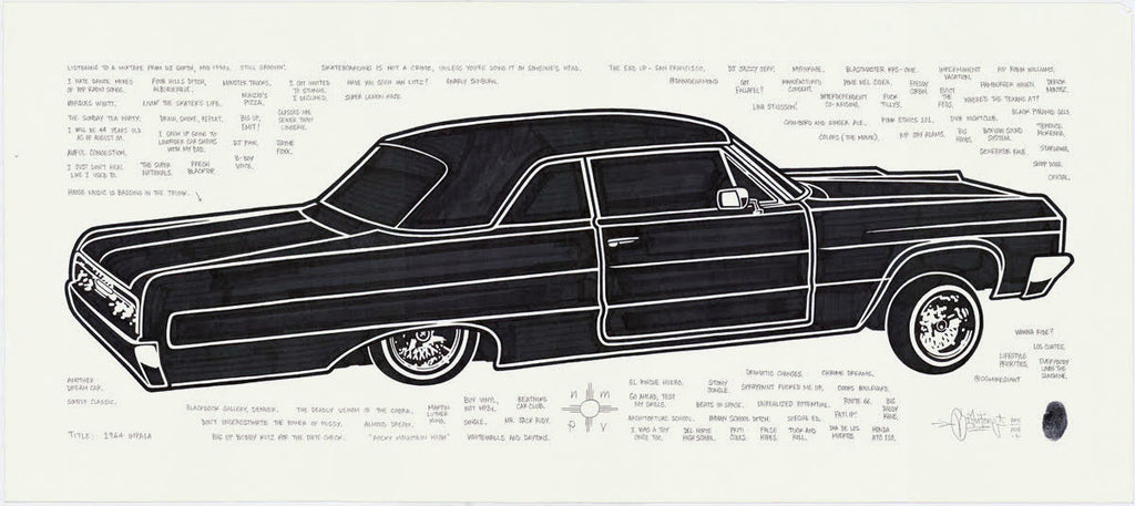 "Mike Giant ""1964 Impala"" Original Drawing"