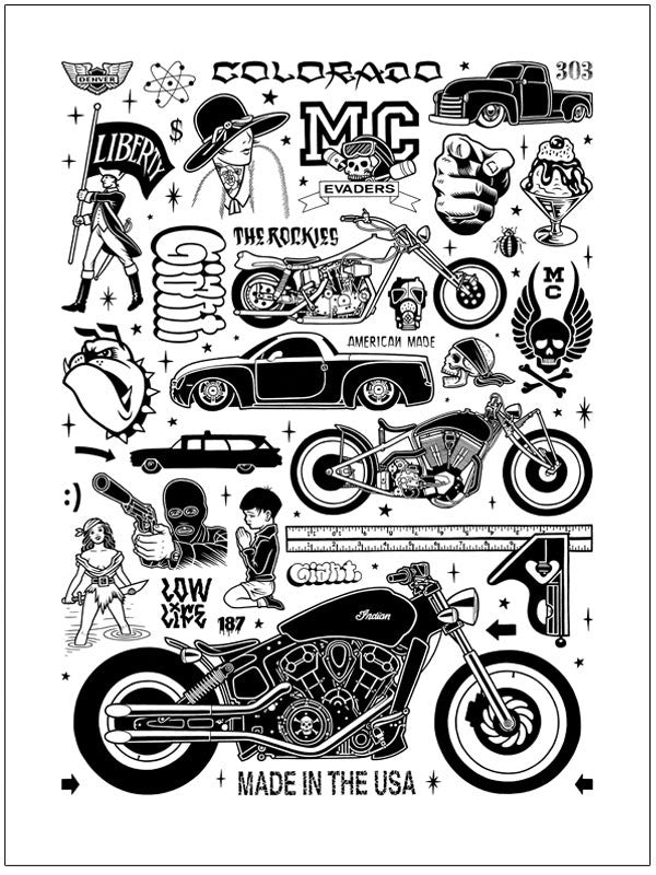 Mike Giant Low Life Print - White Edition