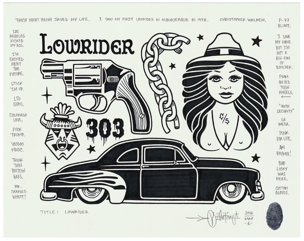 "Mike Giant - ""Lowrider"" Drawing"