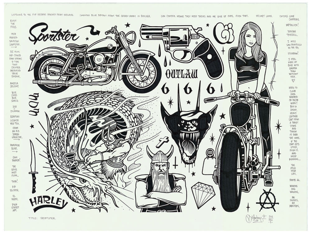 "Mike Giant - ""Sportster"" Drawing"