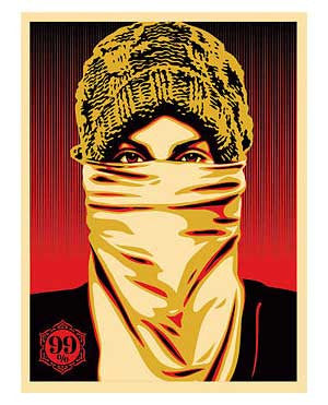 Shepard Fairey Occupy Protestor