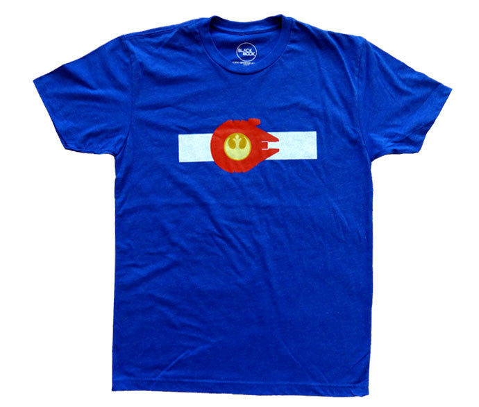 """Rocky Mountain Alliance"" Flag & T-Shirt - Royal Blue"