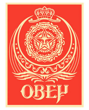Shepard Fairey Ankara Red