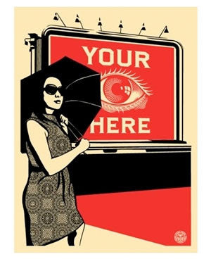 Shepard Fairey Billboard Eye