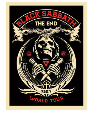"Shepard Fairey Black Sabbath ""The End"" Red"