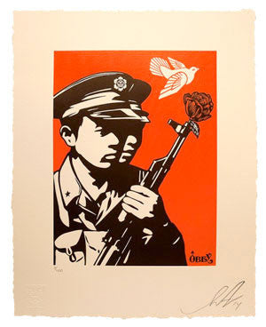 "Shepard Fairey ""Chinese Soldiers"" Letterpress"
