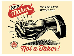 Shepard Fairey Corporate Welfare