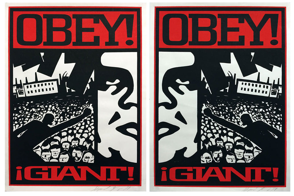 Shepard Fairey - Crowd 1 & 2