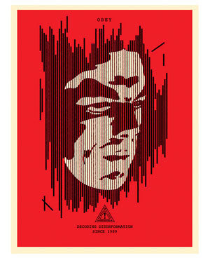 Shepard Fairey Decoding Disinformation Red