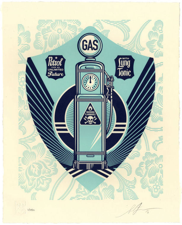Shepard Fairey - Endless Power Letterpress