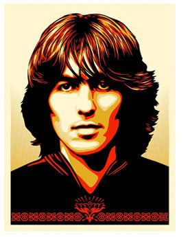 Shepard Fairey Poster for George - Red