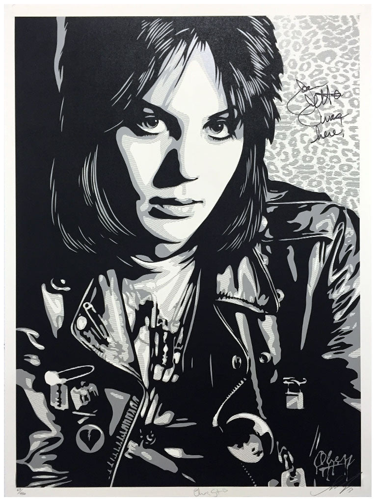 Shepard Fairey - Joan Jett The Runaway