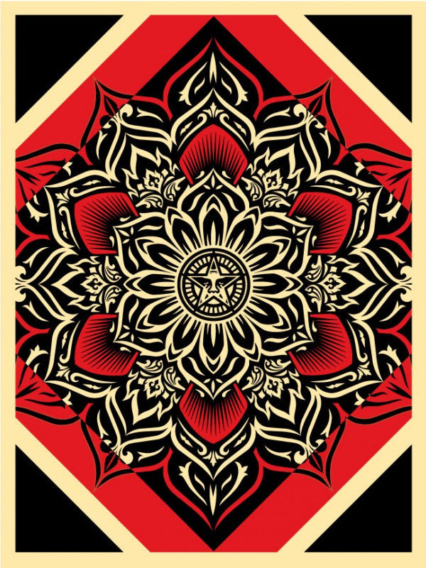 "Shepard Fairey ""Lotus Diamond"" (Red)"