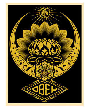 "Shepard Fairey ""Lotus Ornament"" (Gold)"