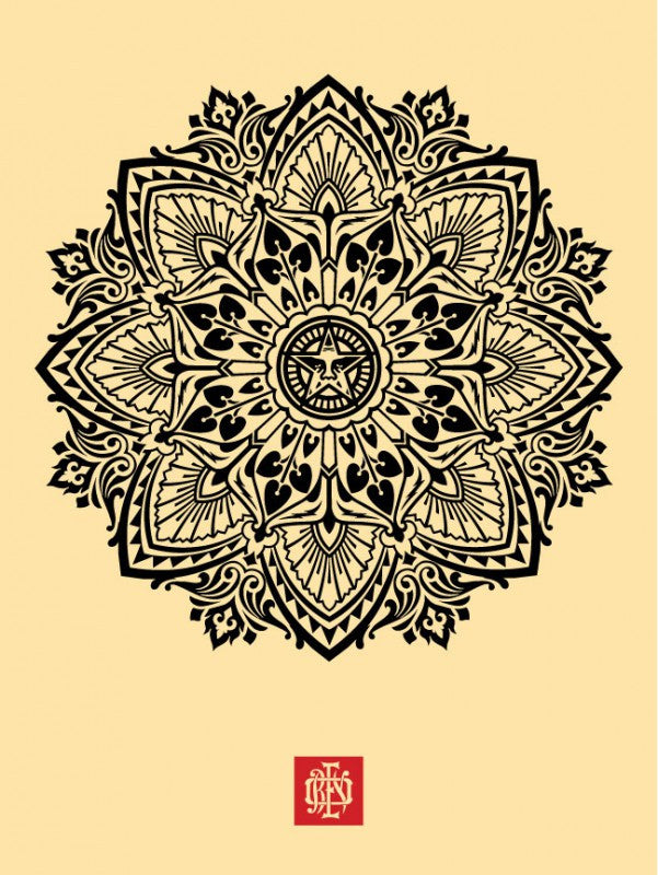 "Shepard Fairey ""Mandala Ornament 2"" (Cream)"