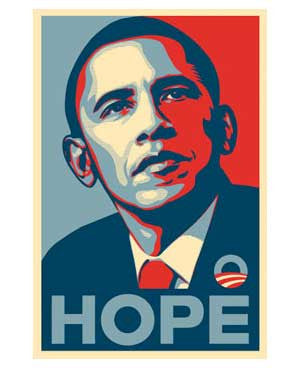Shepard Fairey - Obama Hope Paster