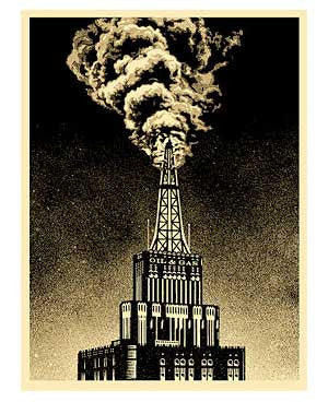 Shepard Fairey Oil & Gas Building