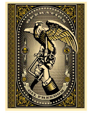 "Shepard Fairey ""Operation Oil Freedom"" (Gold)"
