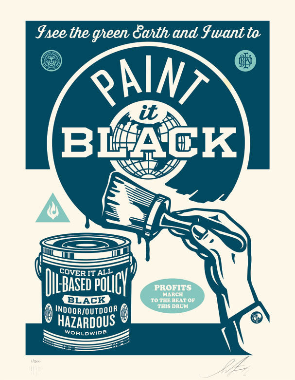 "Shepard Fairey ""Paint It Black"" (Brush)"