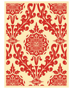 Shepard Fairey Parlor Pattern Red
