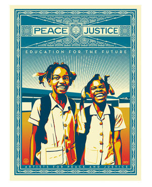 Shepard Fairey Peace and Justice - Haiti