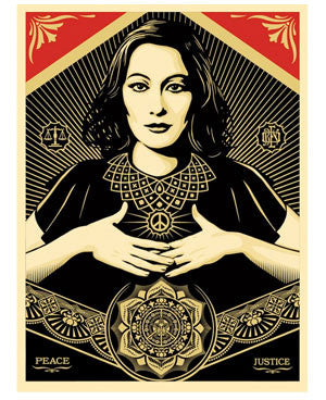 "Shepard Fairey ""Peace & Justice Woman"""