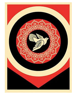 Shepard Fairey Peace Dove Red/Black