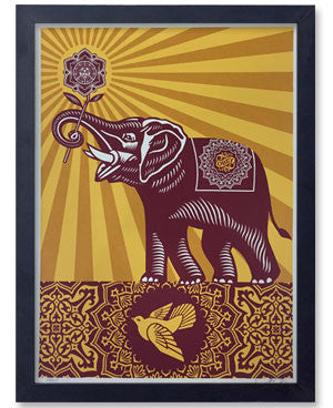 Shepard Fairey Holiday Peace Elephant