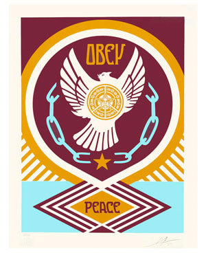Shepard Fairey Peace Series Peace and Freedom Dove