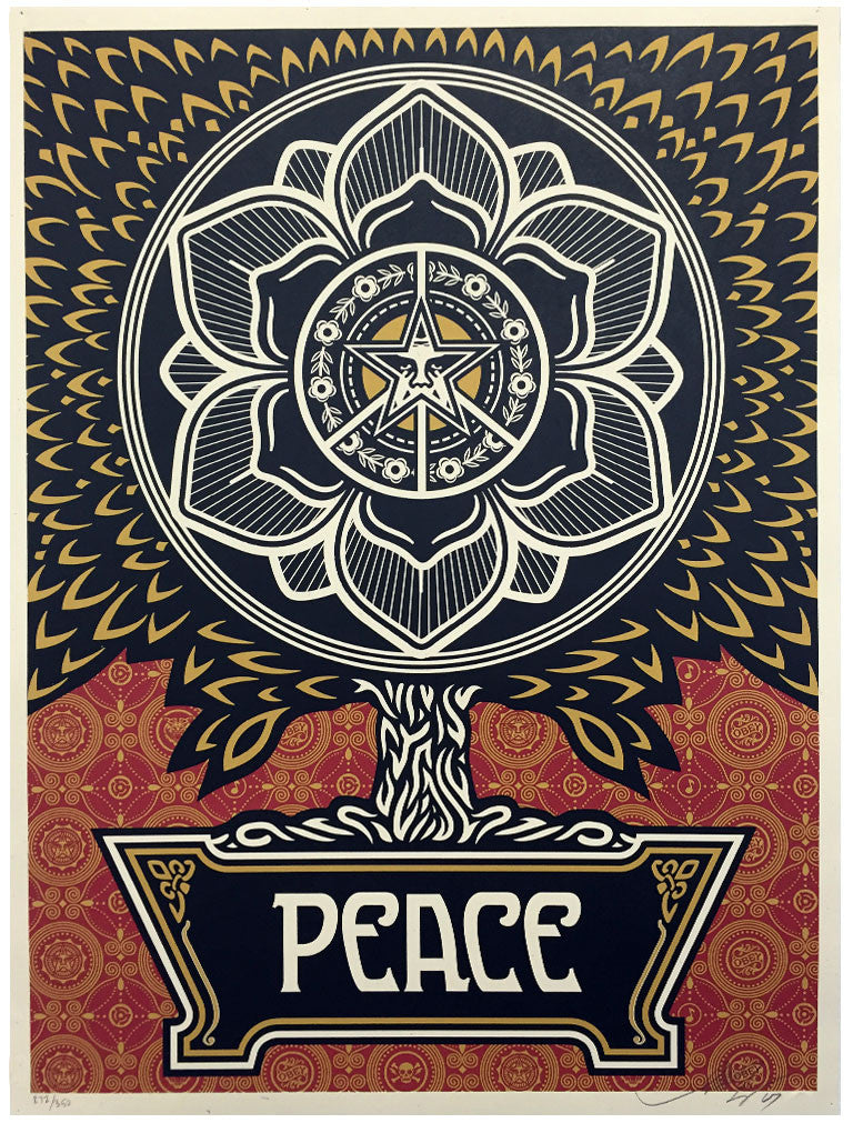 Shepard Fairey - Peace Tree (Gold)