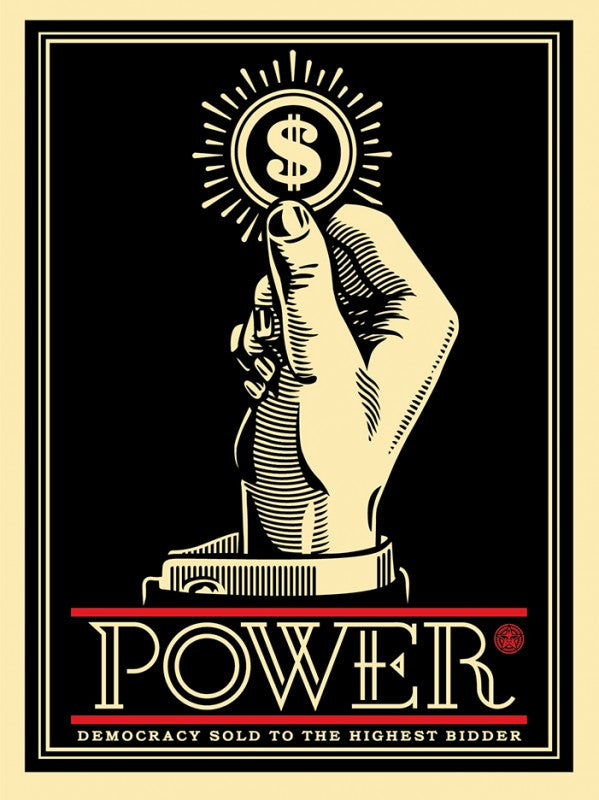 "Shepard Fairey ""Power Bidder"""